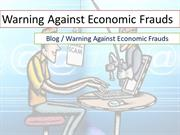 warning against economic frauds