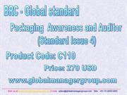 BRC Packaging Standard Training Presentation