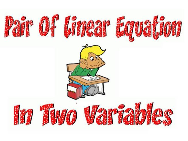 Linear Equations In Two Variables - Talkchannels