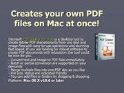 iStonsoft PDF Creator for Mac - Create PDF from Text or Image Easily