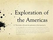 Exploration of the Americas