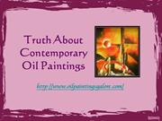 Truth About Contemporary Oil Paintings