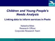 Children & Young People's Needs Analysis