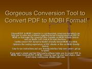 PDF to MOBI Converter - Convert PDF to Kindle Format  iStonsoft