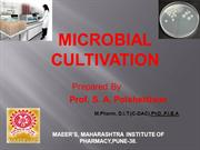 MICROBIAL CULTIVATION