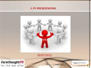 Forethought PR Presentation