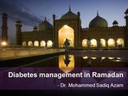Diabetes management in Ramadan