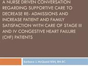 McQuaid, B. (2011) A Nurse Driven Conversation To Decrease Re- Admissi
