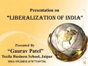 liberalization of india (Gaurav Patel)