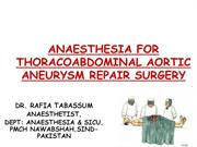 ANAESTHESIA FOR AORTIC ANEURYSM REPAIR SURGERY