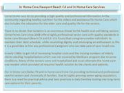In Home Care Newport Beach CA and in Home Care Services