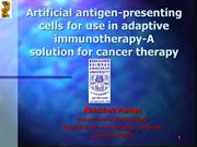 Artificial antigen-presenting cells for use in adaptive immunotherapy-