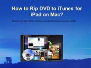 How to Rip DVD to iTunes for iPad on Mac
