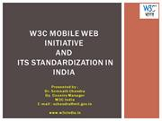 W3C Mobile Web Initiative