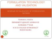 SEMINAR ON VALIDATION