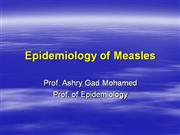 Ashry_Epidemiology of Measles