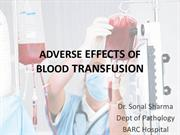 Adverse reactions of blood transfusion