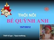 THOI NOI BE  QUYNH ANH