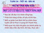 Tit 46 Bi 40: Thc hnh: c lt ct a l t nhin tng hp.