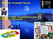 Warning- Economic Frauds I