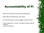 Accountability of FI