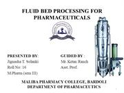 FLUID BED PROCESSOR FOR PHARMACEUTICALS
