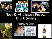 Andrew O'Leary Teen Driving Issues Project