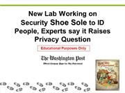 A New Lab Working on Shoe Sole for Security ID