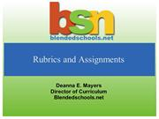 Rubrics and Assignments
