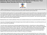 Muskoka Recovery Center Announces Their Definition Of