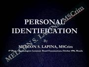 Fingerprint Identification Reviewer