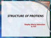 STRUCTURE OF PROTIENS