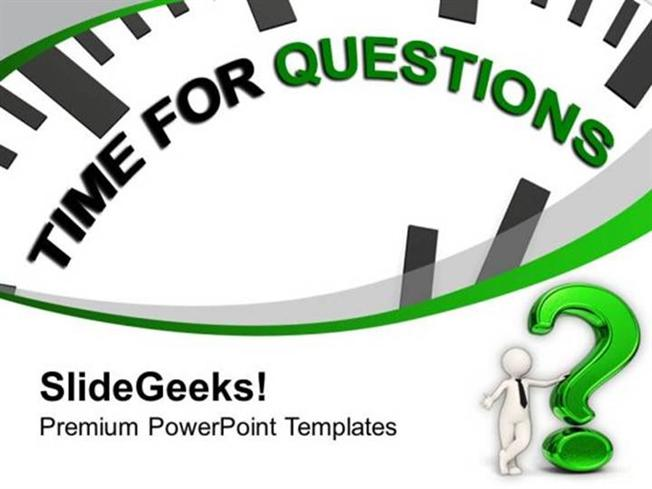 People Clock With Tag Time For Questions Ppt Template Powerpoint
