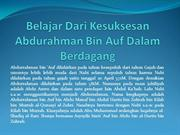 Belajar Dari Kesuksesan Abdurahman Bin Auf Dalam Berdagang