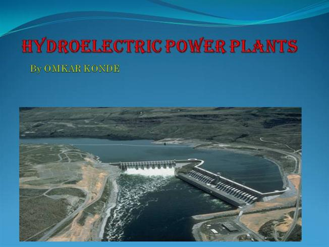 Schematic Diagram Of Hydroelectric Power Plant Ppt - Online ...