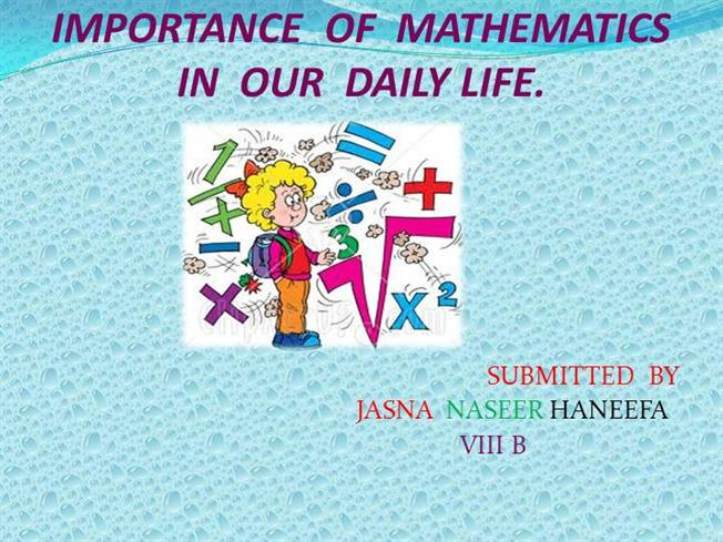 importance arithmetic math Statistical plays a central role in almost all natural and social sciences the methods of natural sciences are most reliable but conclusions draw.