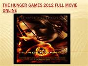 Watch hunger games 2012 Full Movie Online