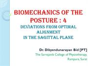 Posture  Biomechanics 4 Deviations from Optimal Alignment