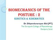 Posture  Biomechanics 2 Kinetics and Kinematics