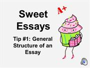 Sweet Essays Tip 1: General Structure of an Essay
