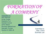 FORMATION OF A COMPANY BLED SAURABH