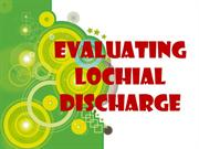 evaluating lochial discharge