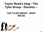 Taylor Read's blog - The Tyler Group - Docstoc