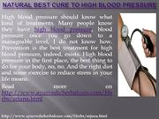 Natural Best Cure to High Blood Pressure