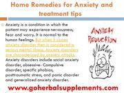 Home Remedies for Anxiety and treatment tips