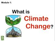 1.What is climate change