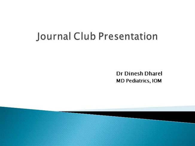 Journal Club Dinesh |authorSTREAM