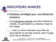 Indicateurs avancés