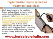 Hypertension home remedies treatment and ideas