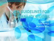ICH GUIDELINES FOR STABILITY STUDIES 1